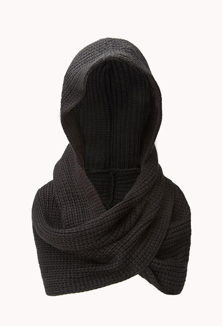 Fireside Hooded Scarf | FOREVER21 -Keepin' it hood #InfinityScarf #Hood #Knit