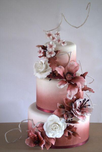 Kuchen Inspiration # Kuchen #ombre #pink #rosegold – #inspiration #cake #ombre #pink #rose …   – Pink Birthday Cake Ideen