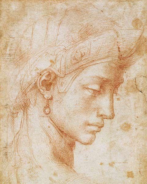 Bild:  Michelangelo (Buonarroti) - Idealgesicht