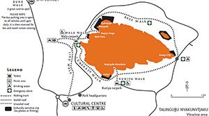 Map, Uluru-Kata Tjuta National Park