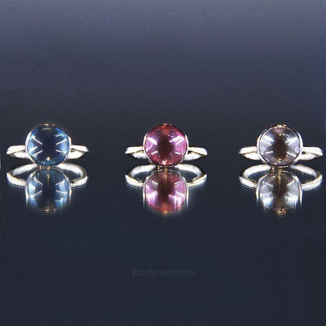 The new Poetic Droplet rings are perfect for spring Simple, colourful and easy to stack with your other Pandora rings!