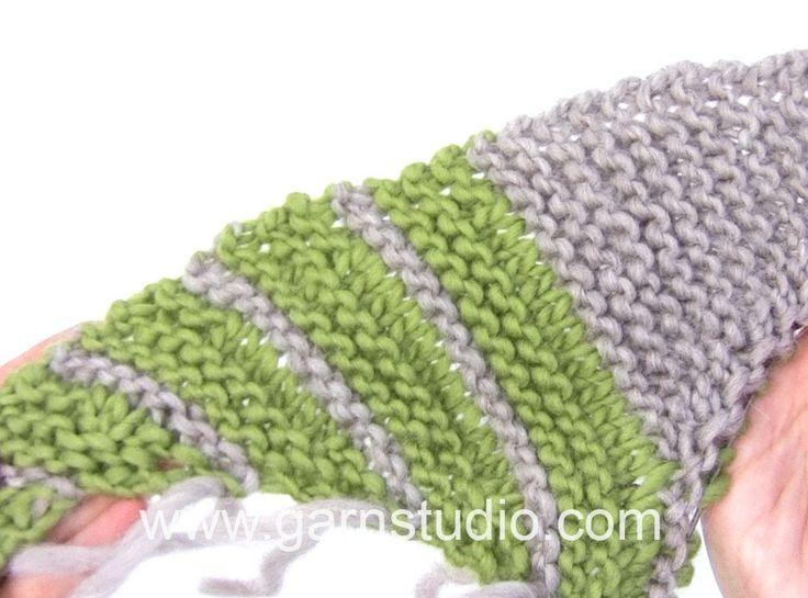 DROPS Knitting Tutorial: How to work the shawl in DROPS 166-26