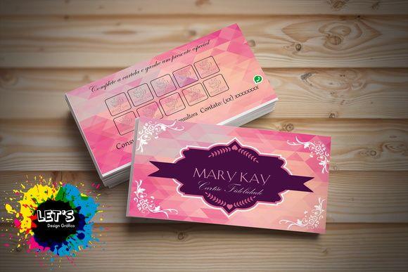 Cartão de visita e Fidelidade Mary Kay