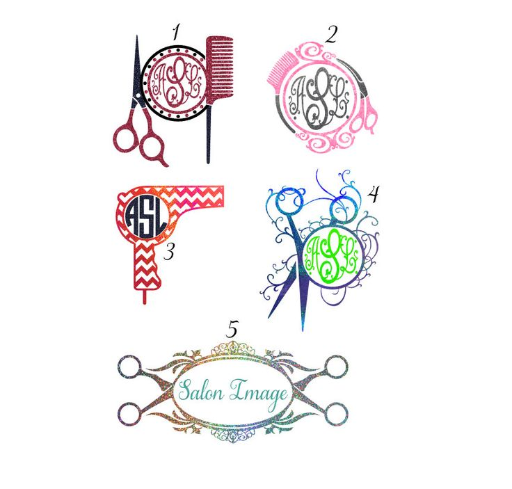 Best Decals Images On Pinterest Hair Stylists Monogram Decal - Hair stylist custom vinyl decals for car