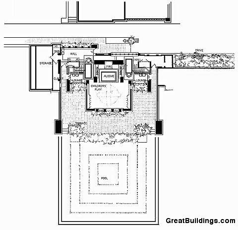 Plan Drawing Coonley Playhouse 1911 Part Of Avery Coonley