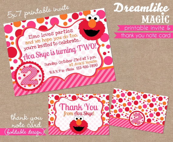 82 best Girly Elmo Birthday Party images – Elmo Party Invitations Printable