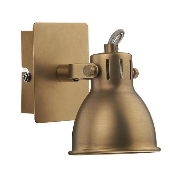 DAR IDA0775 Idaho Natural Brass 1 Lamp Vintage Spot Light. DAR Lighting IDA0775 is part of the Spot Lighting range. Buy DAR IDA0775.