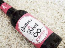 10x Flaschenetiketten Hochzeit Etikett Bier