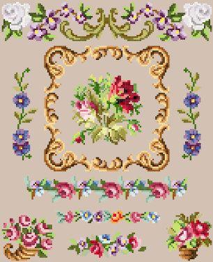 Berlin wool work spot sampler cross stitch by rolanddesigns, $4.00