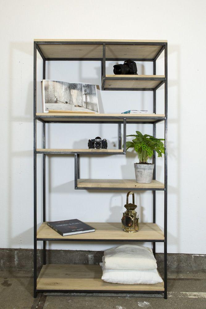 Stalen Kast Met Vakken Hoog Metal Projects Bookcase