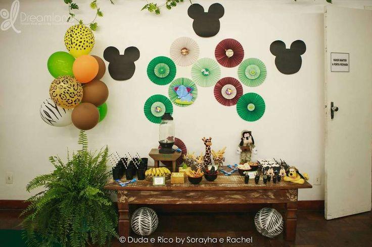 Mickey Safari Birthday Party Ideas   Photo 1 of 11