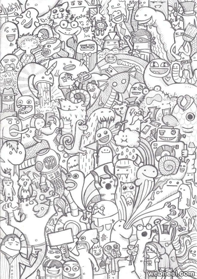 doodle drawing msnele