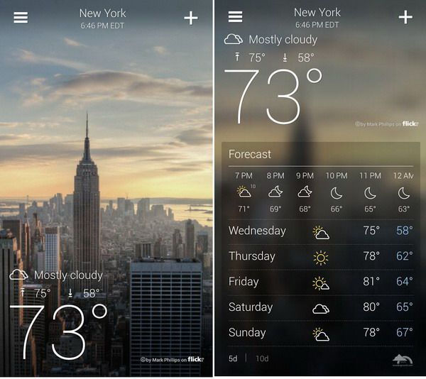Yahoo Weather App For Android Released, Free!