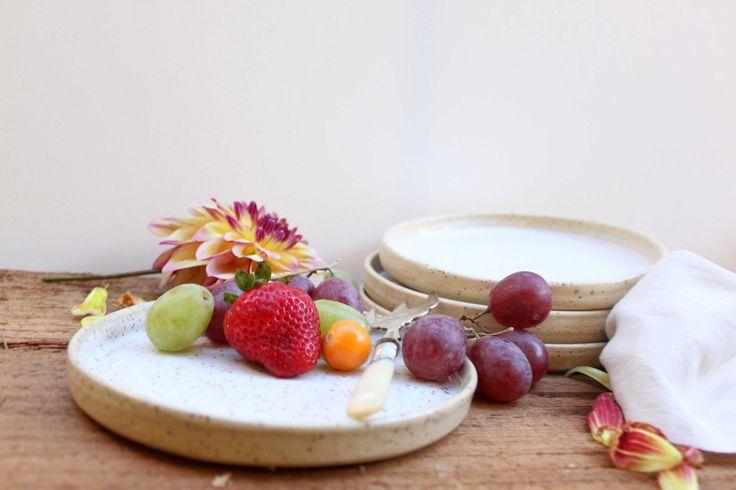 Ceramic stoneware plates, Contemporary Series - Stinging Nettle Studio