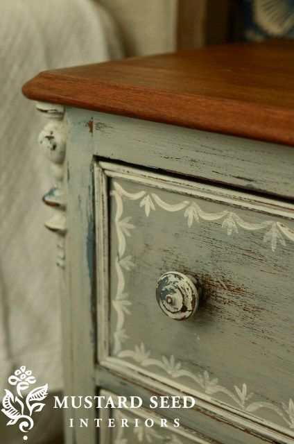 First painted nightstand reveal miss mustard seed - Mustard seed interiors ...
