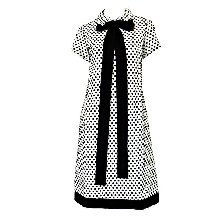 1960's dotted Geoffrey Beene shift dress #1stdibs #fashion #vintage #sixties #mod