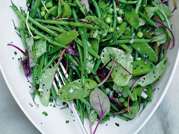 Green Bean Salad with Mustard Seeds and Tarragon, Otto Lenghi