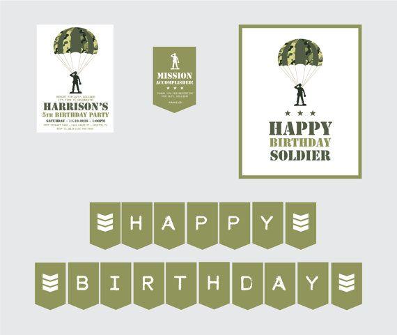 Camo fiesta tema-juguete soldado fiesta por CrowningDetails en Etsy