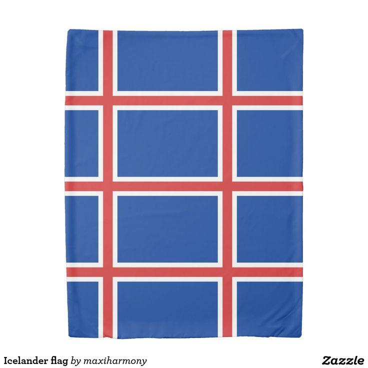 Icelander flag duvet cover