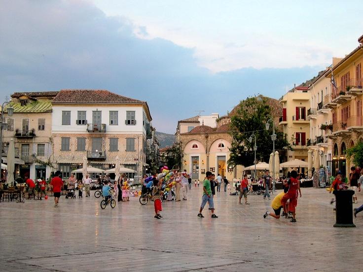 The square at Nafplion, Greece