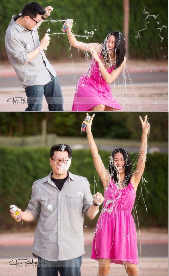 Fun Silly String Engagement Portrait | Chris Richards Photography | http://csrichards.com