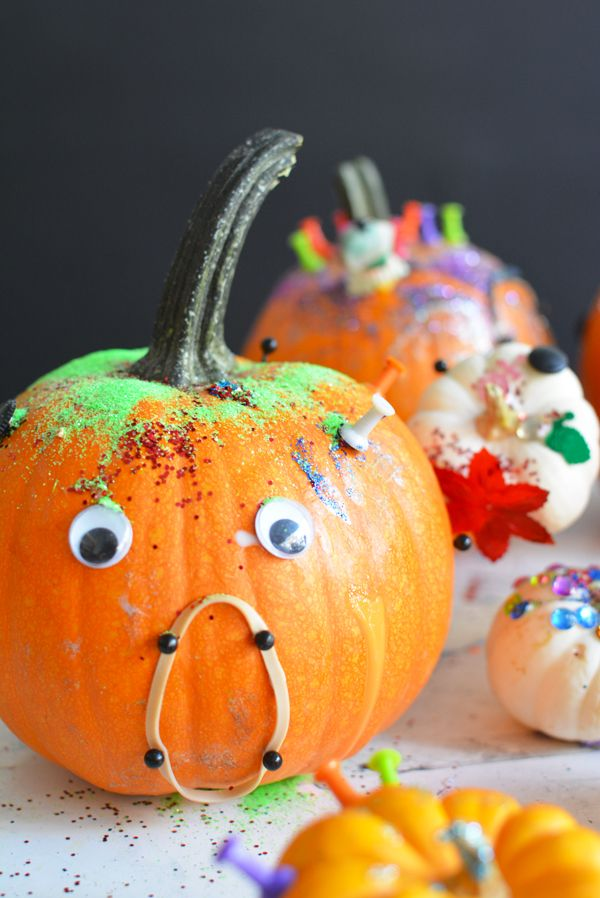halloween art project decorate pumpkins with tinker trays - Preschool Halloween Art Projects