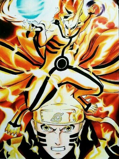 Naruto Kyuubi Mode Wallpaper Hd Naruto Amp Kurama Modo Sabio De Los 6 Caminos Kakashi