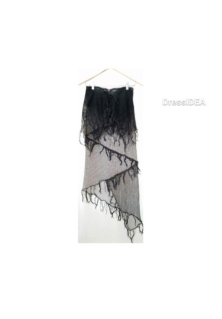 Extravagant Gothic Net Skirt Girls Dancewear Fringe Boho Skirt Black Club Wear Asymmetric Party Skirt Bohemian Clothing by DressIDEA on Etsy https://www.etsy.com/listing/255985502/extravagant-gothic-net-skirt-girls