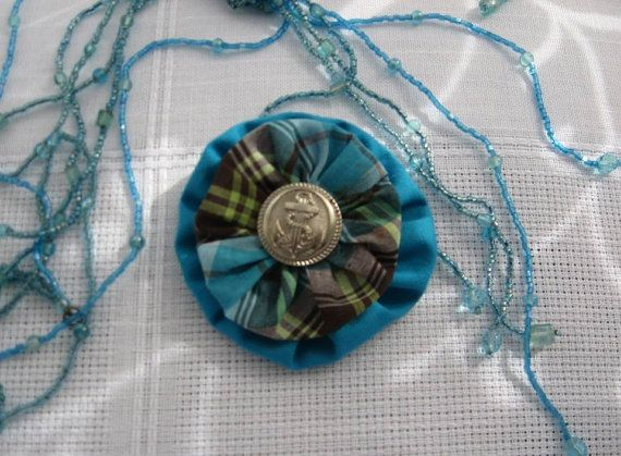 Textile brooch by MagicThreadByNatalia on Etsy