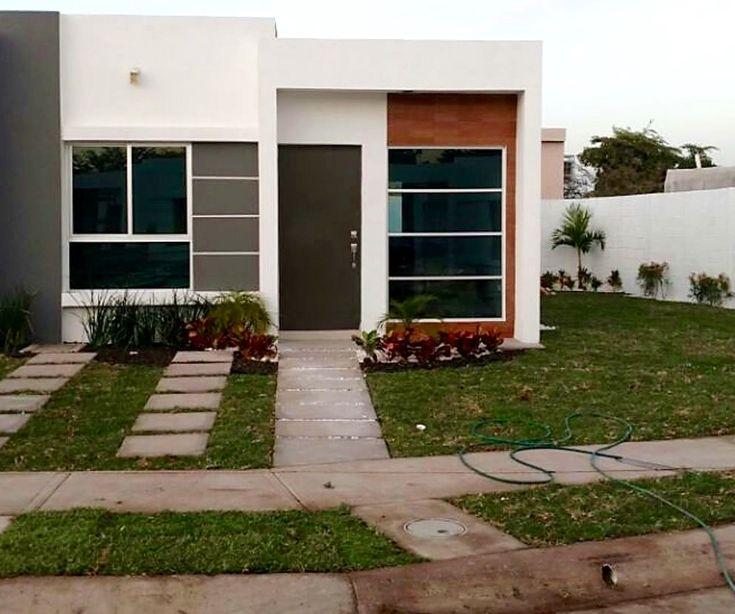 Casa chica infonavit fachadas de casa en 2019 casas for Fachadas de casas modernas pequenas de infonavit