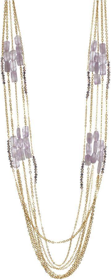 BIJOUX BAR Bijoux Bar Purple Statement Necklace