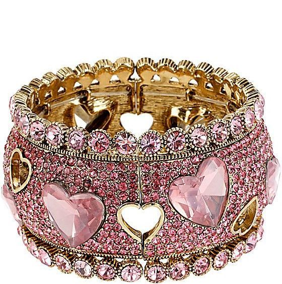 Pink Diamond Ring with Heart Stones