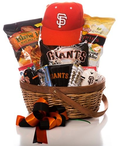 35 best special baskets of fruits images on pinterest petit fours your favorite san francisco giants fan will appreciate this basket of game treats and licensed merchandise negle Images