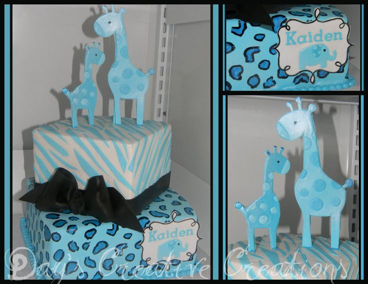 blue safari baby shower cake boy baby shower pinterest blue