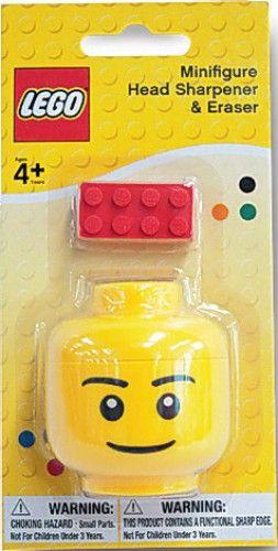 Lego Minifigure Head Sharpener & Eraser