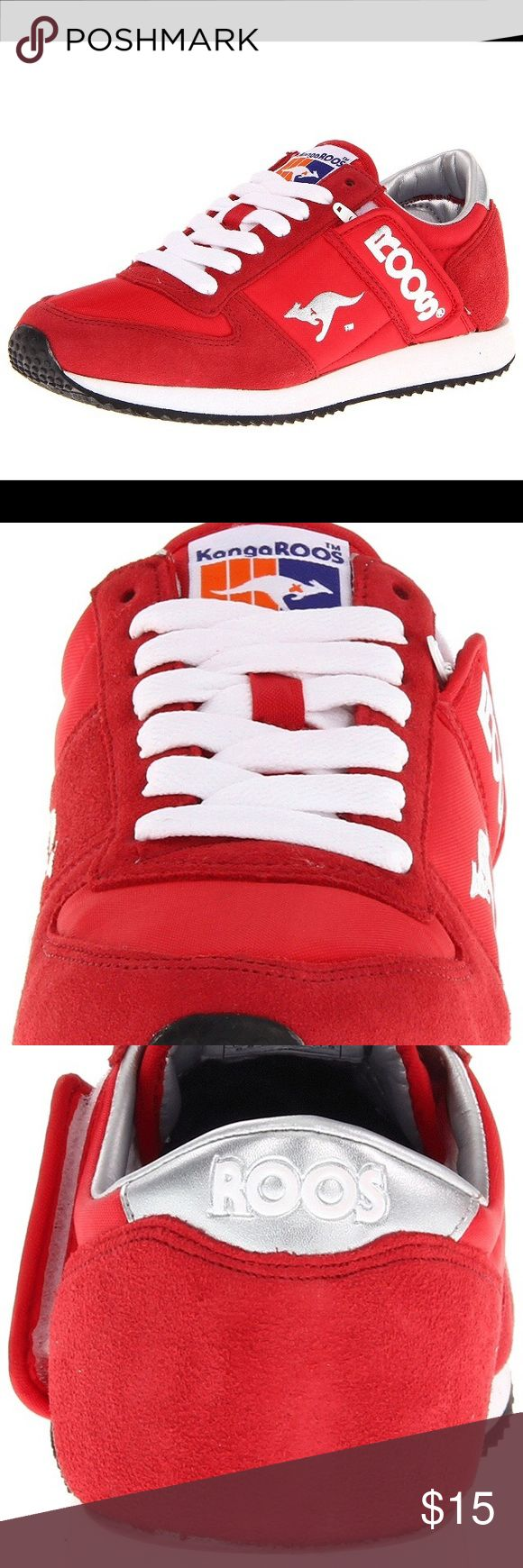 KangaRoos sneakers Roos sneakers with trademark pocket in a vibrant red; worn once or twice, excellent used condition. KangaRoos Shoes