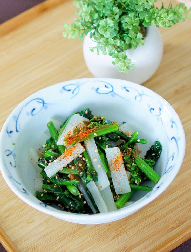 菜の花とうどのナムル風 by manngo   レシピサイト「Nadia   ナディア」プロの料理を無料で検索
