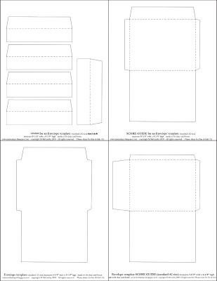 Mel Stampz: New Envelope templates (Standard A2 size) Two styles :O)