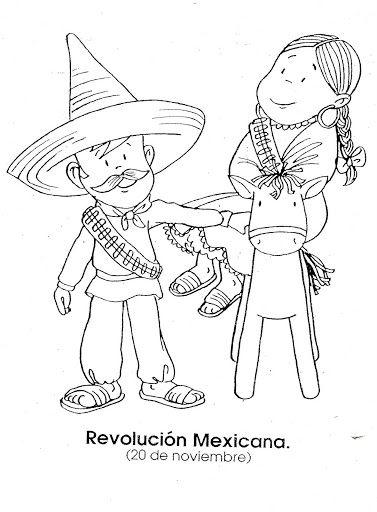 IMAGEN DE LA REVOLUCIÓN MEXICANA PARA COLORAR