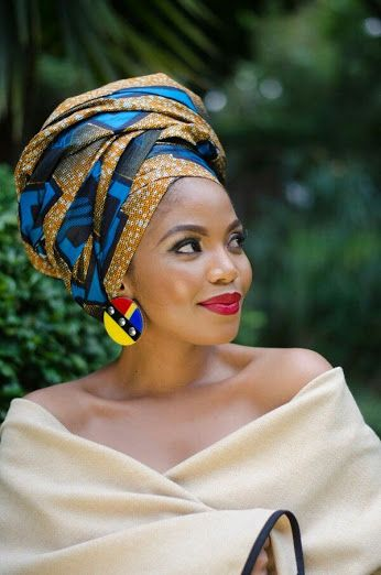 Editor's #Style Picks - Gorgeous #African head wraps, and earrings. #ZenMagazine | http://zenmagazineafrica.com/   Modeled by Terry Pheto Make up by Vuyo Varoy Photography by Trevor Stuurman Photography