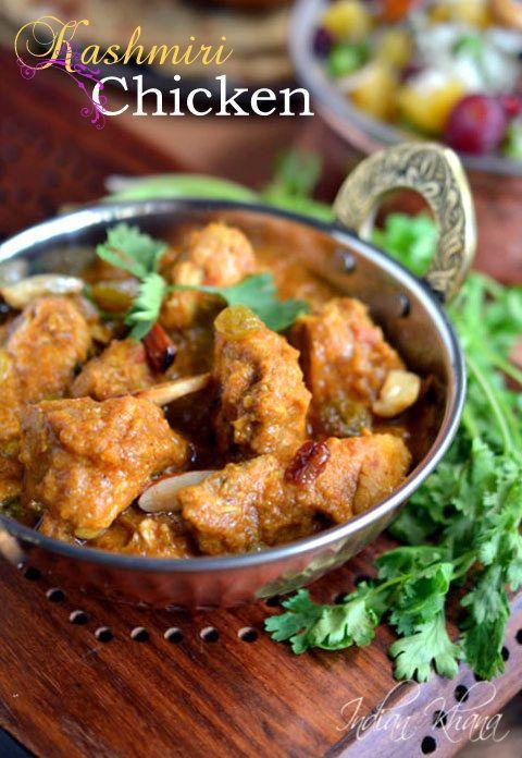 Kashmir Chicken Curry | Kashmir Murgh Masala Recipe | Chicken Recipes ...