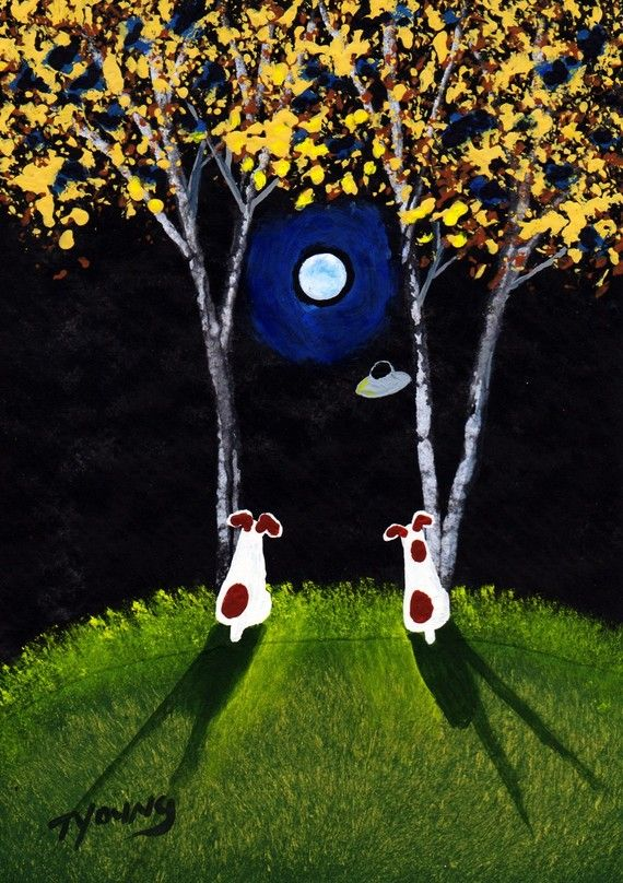 Jack Russell Dog Art PRINT Todd Young painting UFO by ToddYoungArt, $12.50