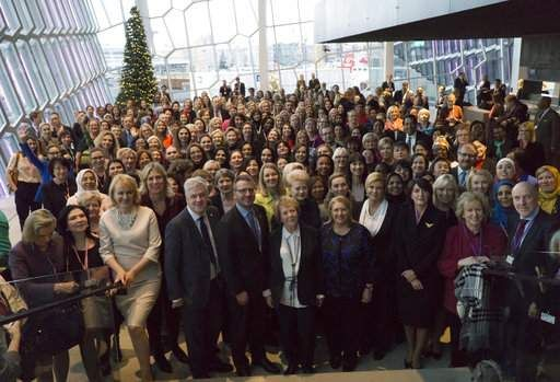 Chapter 9. Women in politics, more specifically as heads of state, is encompassed in chapter 9 of the textbook. This article talks about the Women Political Leaders summit in Reykjavik, Iceland aimed at promoting gender equality inside and outside of the political world. Over 400 women political leaders attended in support of this movement, and came together and discussed ways in which more women can thrive in political positions.