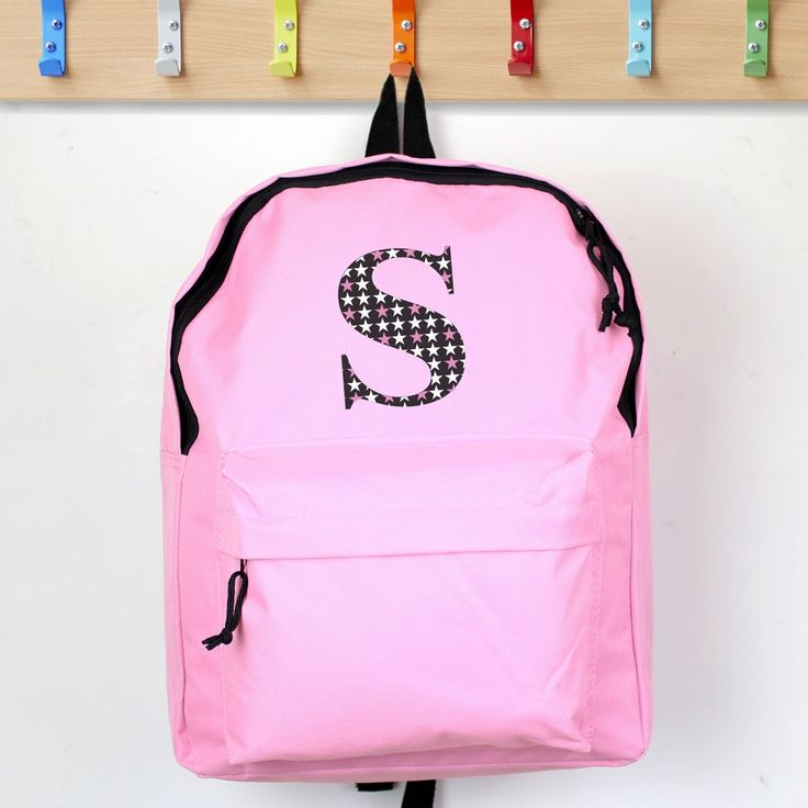 Our Star Initial Pink Backpack is a stylish choice for a new school year.