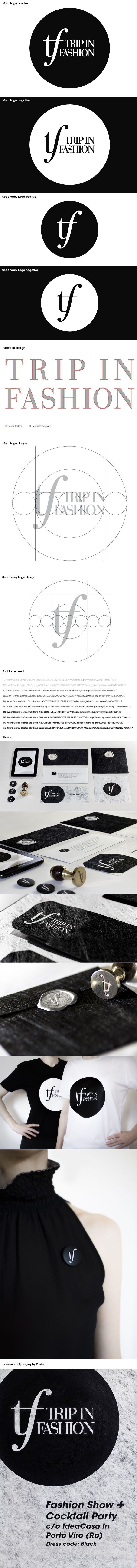 Trip in Fashion - Logo design - Event identity - Print design - invitations, envelopes with sealing wax, pins, stamp, handmade typography poster.