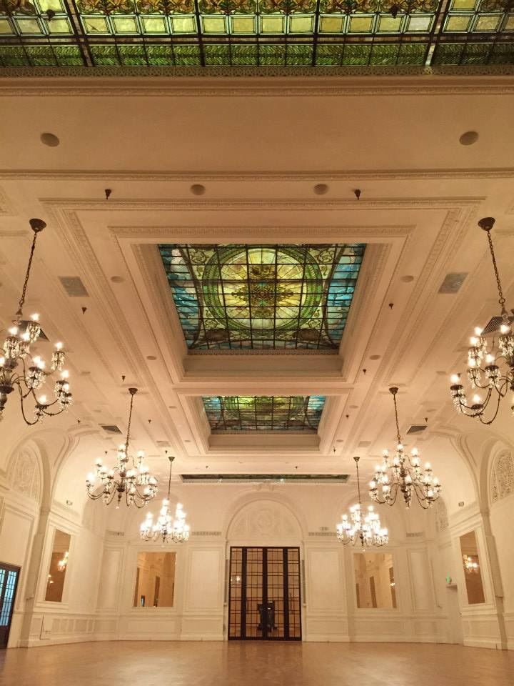 The Palm Court Ballroom inside The Alexandria Hotel in Los Angeles.