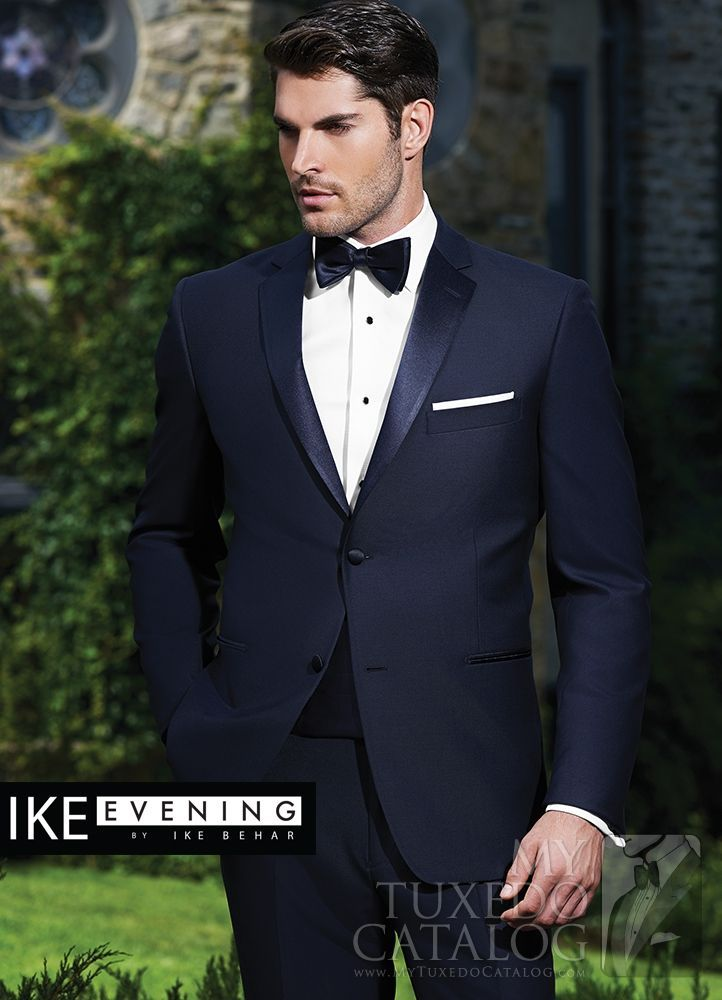 Asheville Tuxedo by Mitchell's - 'Sebastian' -  Navy - Ike Behar - Slim Fit - Grooms Wedding Tuxedo