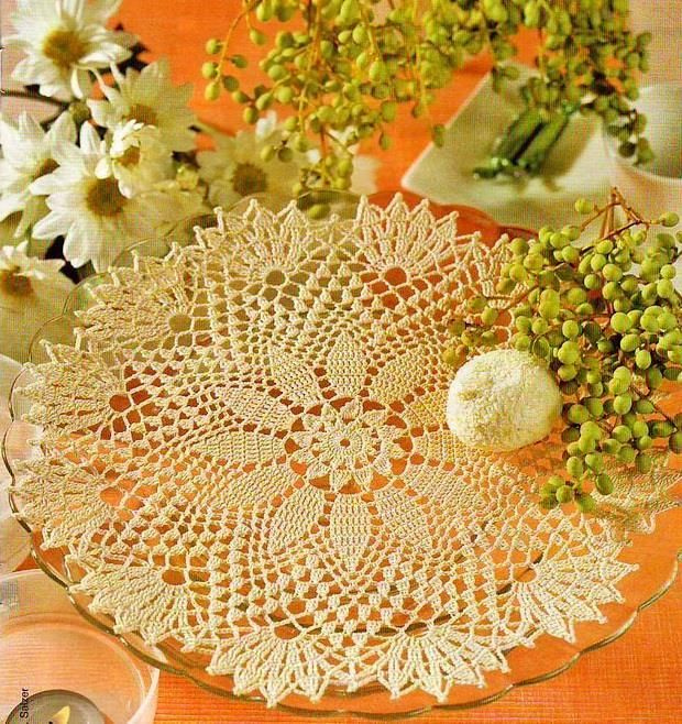 Crochet Pattern Of Simple Beautiful Doily