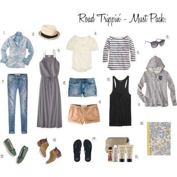 Road Trip - What to Pack by workyourcloset, via Polyvore