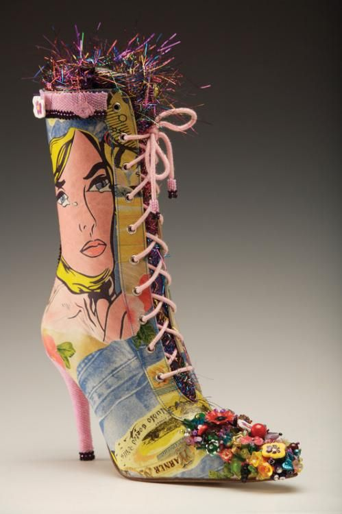 I wanted to see this altered boot, but found tons of cool, funky and some weird shoes